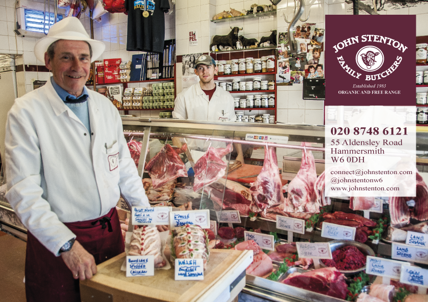 John Stenton, Hammersmith butchers, Brackenbury butchers
